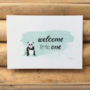 Geboorte felicitatie kaart pandabeer