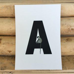 Letterkaartjes voor naamslingers