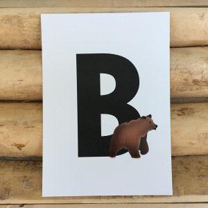letter kaartje voor naamslinger B van Beer