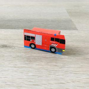 Printable rozijnendoosje traktatie brandweerauto
